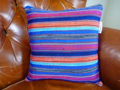 Decorative Throw Pillow Cover 18 x 18  - Authentic Ghanaian Kente Cloth. $25.00, via Etsy.