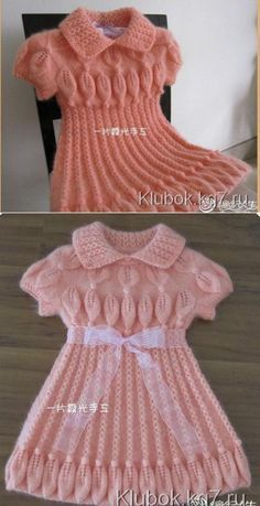 Pile Rock Made Easy Weste – Baby Kleidung Girls Knitted Dress, Crochet Summer Dresses, Knit Baby Dress, Crochet Baby Clothes, Baby Dress Patterns, Baby Knitting Patterns, Crochet Patterns, Diy Crafts Knitting, Sweater Design