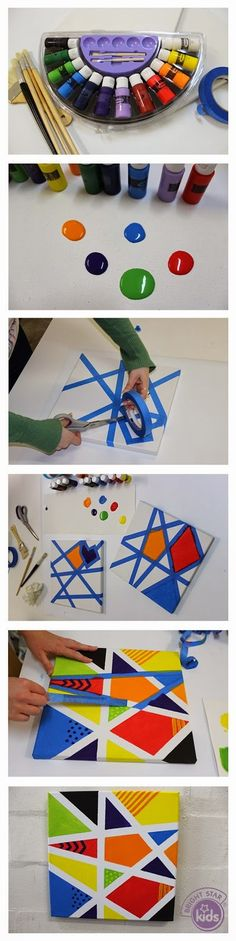 Canvas Art. This would be so much fun with the kids! - Plan Provision