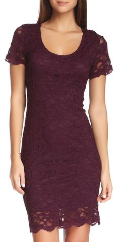 Lace Dress in Burgundy