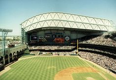 Enron Field (now Minute Maid Park). Worked here as a tour guide. :-)