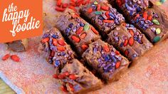 Edible gifts don't have to be unhealthy. Try making up these Superfood Fudge with Goji Berries and Cocoa Nibs by The Happy Pear as a healthier thank you present.