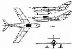 Mikoyan Gurevich MiG I-320 (1949) all-weather long-range interceptor prototype
