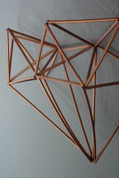 Oleander and Palm: Geometric Himmeli Heart Tutorial Wood Sculpture, Sculptures, Heart Diy, Geometric Heart, Boho Room, Valentine Crafts, Valentines, Wreath Tutorial, Paper Beads