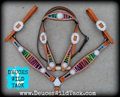 bling+out+tack | bling blinged out rainbow zebra tack set comes with blinged out ...
