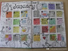 love these doodled calendar pages