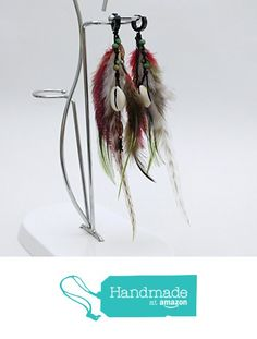Long feather earrings BR1095 from Nazo Design https://www.amazon.com/dp/B01H62MB2E/ref=hnd_sw_r_pi_dp_ZTy6xb2AFYRA0 #handmadeatamazon