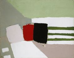 Nicolas de Staël, Nice, 1954 I am in love with the colors chosen for this. The shade of greens against red, black, and white make this gorgeous art project very inspiring.
