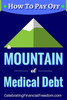 Tips for paying off medical debt. You'll be surprised at some of the techniques you can use to pay pennies on the dollar for your medical debt. Paying Off Credit Cards, Frugal Tips, Debt Payoff, Money Saving Tips, Money Tips, Money Savers, Student Loans, Debt Free, Money Management