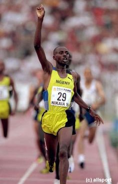 Noah Ngeny. The closest rival to WR-holder Hicham El Guerrouj. #2 on the all-time list (3:43.4) and gold medalist in Sydney. Still owns the 1000m WR (2:11.96)