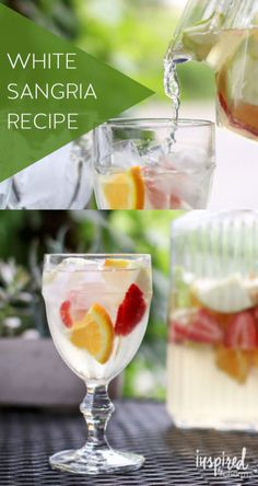 White Sangria | Love this sangria recipe for spring and summer.