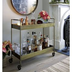 Libations Bar Cart in Coffee Tables & Side Tables | Crate and Barrel