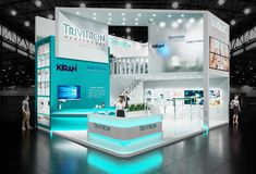 Exhibition stand ''Trivitron'' on Behance Exhibition Stall Design, Exhibition Stands, Exhibit Design, Stand Design, Display Design, Exibition Design, Expo Stand, Web Banner Design, Showcase Design