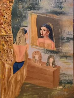 oil on canvas 70 x 100 cm Klimt, Oil On Canvas, Perspective, Mona Lisa, Paintings, Artwork, Work Of Art, Paint, Auguste Rodin Artwork