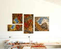 Three Piece Set Wood Wall Art