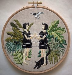 Latest Embroideries by Michelle Kingdom.