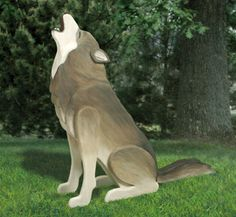 3D Life-Size Howling Wolf Wood Pattern The majestic howling wolf has become a symbol of the great Northern wilderness. #diy #woodcraftpatterns