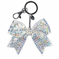 Solid Sequin Mini Cheer Bow Keychain by Chassé $2.95. Available in 15 different colors!