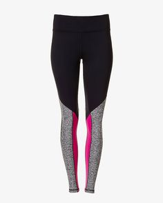 EXP core marled and berry stripe legging