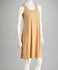 Take a look at this Beige Sleeveless Dress by Paniz on #zulily today! $19.99, regular 80.00