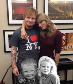 Someone on Tumblr has even created this image of Sweeran hanging out as kids.