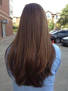 Image result for long brunette hair
