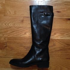 • Sam Edelman • Sam Edelman boots. Black. Ankle zip. 1 inch heel. Approx 15 inches tall. Couple minor scuffs     Excellent like new condition. Sam Edelman Shoes Heeled Boots