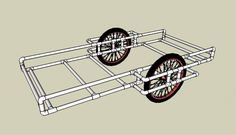 You might recall that I posted a design concept a while back for an ultralight teardrop shaped tiny house trailer that could theoretically be pulled by a bicycle. Bike Cargo Trailer, Cargo Trailers, Motorcycle Camping, Camping Gear, Motorcycle Helmets, Backpacking, Homeless Housing, Bike Cart, Velo Cargo