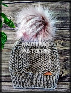 69 super Ideas for knitting beanie pattern men Knitting Charts, Baby Knitting, Knitting Patterns, Crochet Patterns, Hat Patterns, Knitting Designs, Knitting Projects, Loom Knitting For Beginners, Knit Beanie Pattern