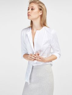 SHIRT WITH SEAMING DETAIL