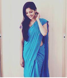 Most Beautiful Bollywood Actress, Cute Girl Photo, Girl Photos, Blessings, Cute Girls, Blessed, Happy Birthday, Sari, Actresses