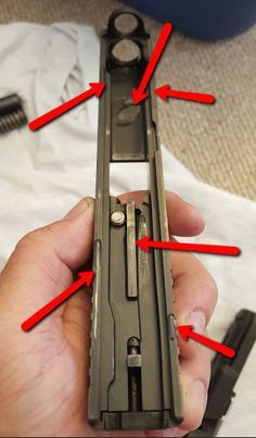 where to lube Glock slide