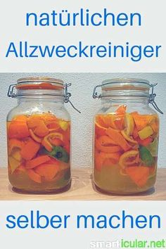 Dieser natürliche Allzweckreiniger kostet weniger als 40 Cent pro Liter From waste products and vinegar you make this extremely cheap and effective all-purpose Diy Cleaning Products, Cleaning Hacks, Household Expenses, Diy Shampoo, Household Organization, All Purpose Cleaners, Natural Make Up, Green Cleaning, Green Life