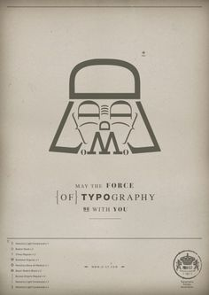 May the Force {of} typography be with you