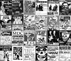 80's punk rock posters
