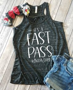 It's A Fast Pass Kinda Day Flowy Tank Top - Disney Shirts for women - Disney Family Shirts - Disney outfit - Disney fast pass