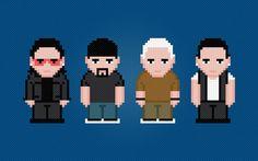U2 Rock Band Digital PDF Cross Stitch by AmazingCrossStitch