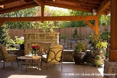 images rustic outdoor living spaces with fireplace Rustic Outdoor, Outdoor Decor, Outdoor Ideas, Deck Design, Garden Design, Outdoor Rooms, Outdoor Living, Pool Cabana, Backyard Paradise