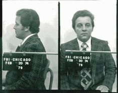 Mugshot of the ruthless Tony Spilotro, enforcer for the Chicago Outfit in Las Vegas, 1979, Chicago.  Tony met his end by being savagely beaten in Bensenville, then driven to Indiana and buried alive with his brother in a cornfield. Joe Pesci's character, Nicky Santoro in Martin Scorsese's Casino, was based on Spilotro.  http://en.wikipedia.org/wiki/Anthony_Spilotro