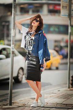 viktoriya-sener-fashion-blogger-from-turkey-wearing-mickey-mouse-denom-jacket-showpo-faux-leather-skirt-amngo-white-trainers-zerouv-sunglasses-4