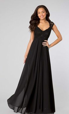 2015 Sexy Black Cap Short Sleeve with Lace Back Cheap Maternity Bridesmaid Dress Long Chiffon Sheath Pleated Evening Prom Party Gowns YY15