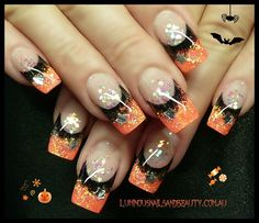 Spooky Halloween Nail Art Designs - Hair and Nail ideas - halloween nails Fancy Nails, Love Nails, Pretty Nails, My Nails, Halloween Nail Designs, Halloween Nail Art, Spooky Halloween, Happy Halloween, Halloween Images