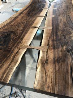 Resin And Wood Diy, Wood Resin Table, Slab Table, Zen Furniture, Craftsman Furniture, Live Edge Furniture, Wood Table Design, Coffee Table Design, Resin Countertops