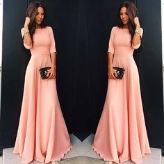 Para Mujer De Moda Rosa Boho Noche De Fiesta Largo Maxi Playa Vestido De Fiesta Vestido in Ropa, calzado y accesorios, Ropa para mujer, Vestidos | eBay