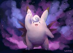 Clefable Pokemon Fairy, Type Pokemon, Types Of Fairies, Catch Em All, Sonic The Hedgehog, Geek Stuff, Bird, Cute, Animals