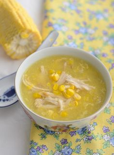 Chicken Sweetcorn Soup From My Lemony Kitchen .: Chicken and Sweetcorn Soup Chicken And Sweetcorn Soup, Corn Chicken, Chicken Soup, Fresh Chicken, Roast Chicken, Chinese Chicken Corn Soup, Chicken Sausage, Shredded Chicken, Soup Recipes