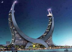 Hospital in Dubai. Amazing Photos in the World Unusual Buildings, Interesting Buildings, Amazing Buildings, Modern Buildings, Architecture Unique, Futuristic Architecture, Concept Architecture, Dubai, Countries Of The World