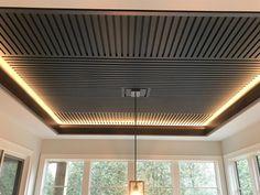 Custom Home Builder, Oakville Ontario Wooden Ceiling Design, Interior Ceiling Design, Pop False Ceiling Design, House Ceiling Design, Ceiling Design Living Room, Wooden Ceilings, Ceiling Plan, Ceiling Decor, Wall Panel Design