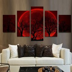 Luna 5 Pcs Wall Art Canvas