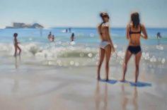 Gemälde(!) wie unscharfe Schnappschüsse vom Strand. <3